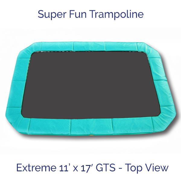 Super Fun Trampoline – Extreme 11 ft x 17 ft GTS – Top View