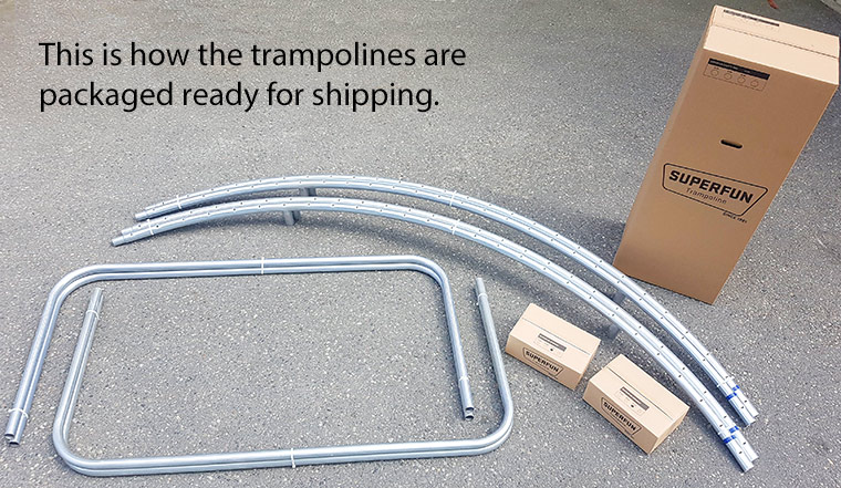 Super Fun Trampoline Shipping