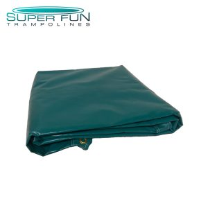 Super Fun Trampoline - Solid Green Jumping Mat