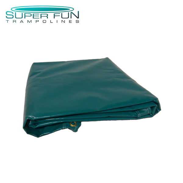 Super Fun Trampoline – Solid Green Jumping Mat